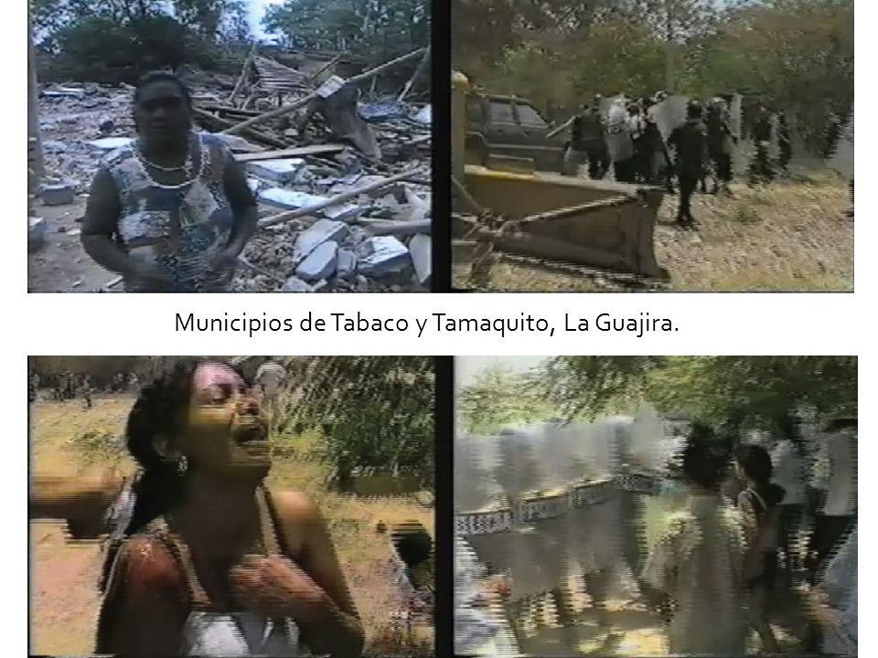 Municipios de Tabaco y Tamaquito, La Guajira.