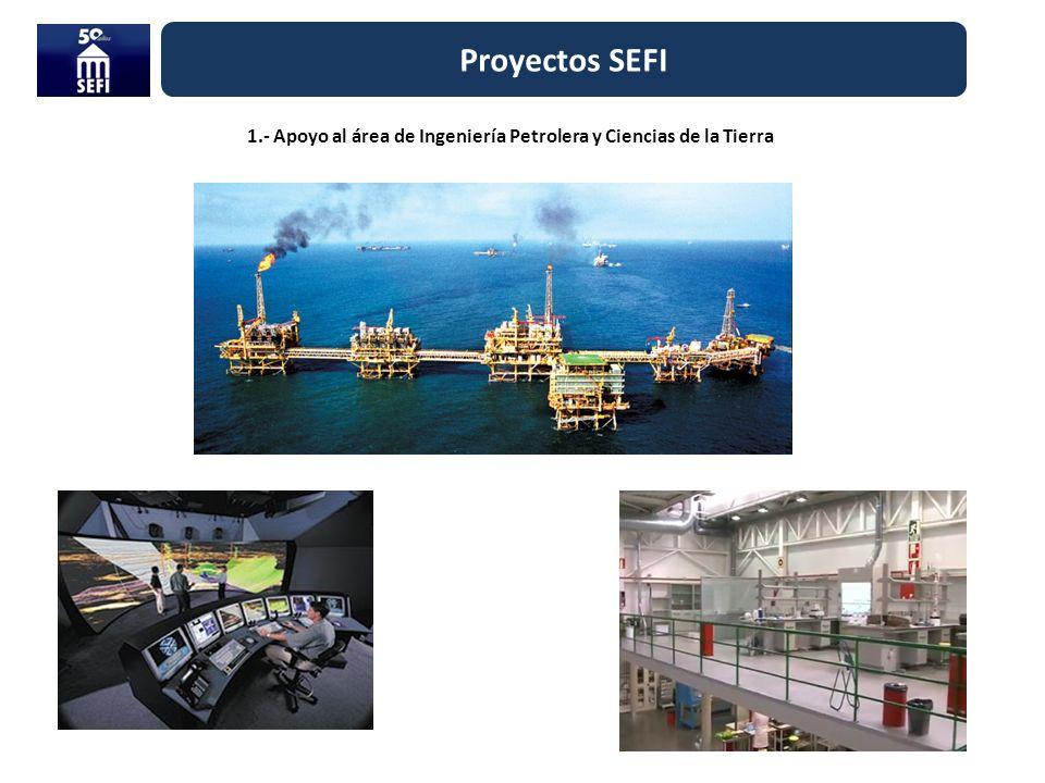 Proyectos SEFI 1.- Apoyo al área de Ingeniería Petrolera y Ciencias de la Tierra