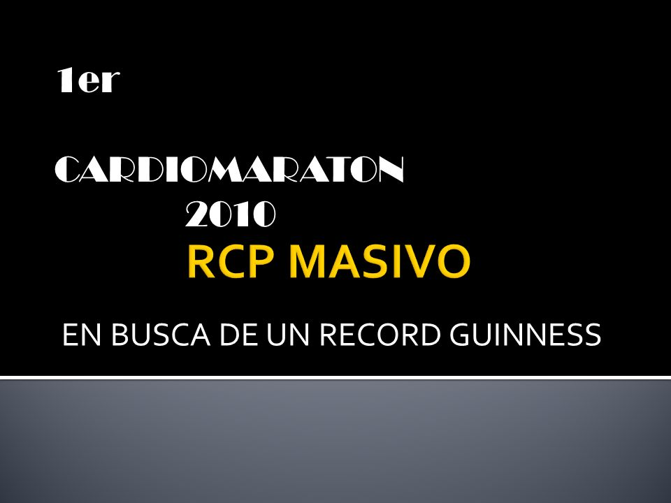 EN BUSCA DE UN RECORD GUINNESS 1er CARDIOMARATON 2010