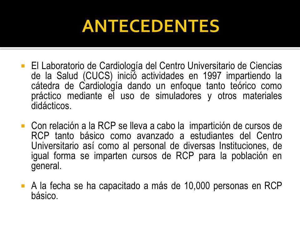 El Laboratorio de Cardiología del Centro Universitario de Ciencias de la Salud (CUCS) inició actividades en 1997 impartiendo la cátedra de Cardiología
