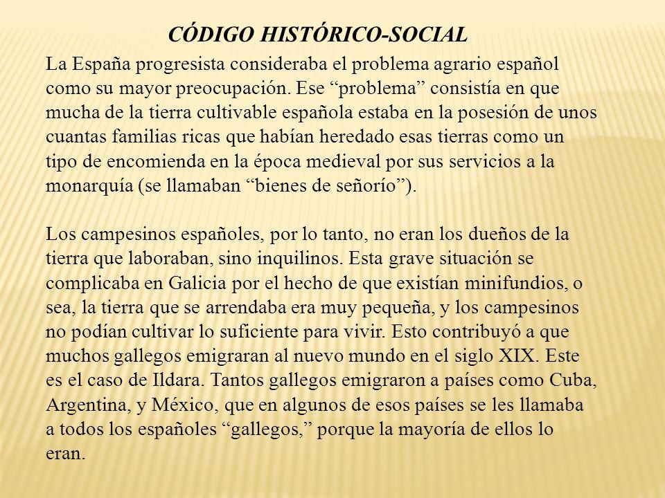 La España progresista consideraba el problema agrario español como su mayor preocupación. Ese problema consistía en que mucha de la tierra cultivable
