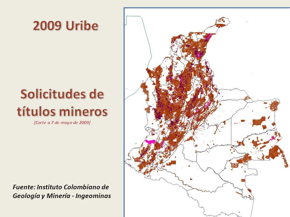 Fuente: Instituto Colombiano de Geología y Minería - Ingeominas