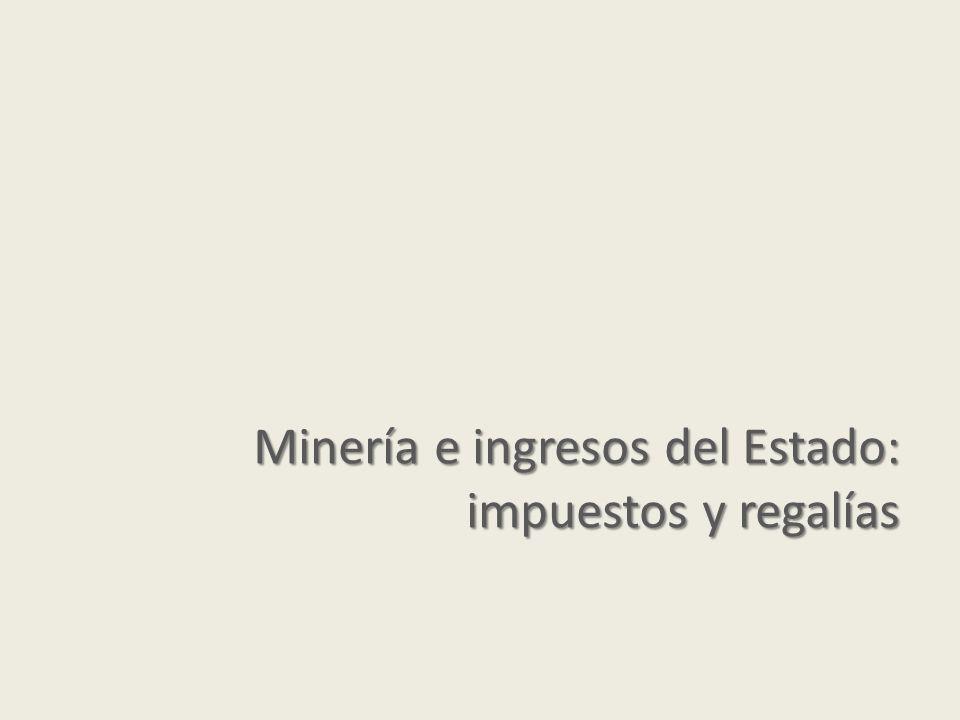 Minería e ingresos del Estado: impuestos y regalías