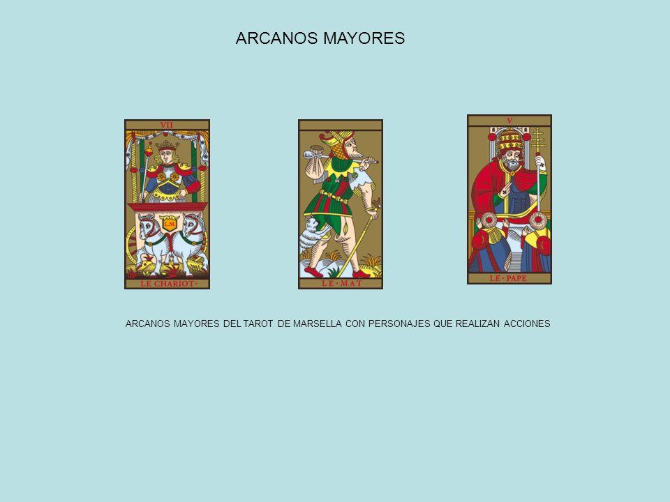ARCANOS MAYORES DEL TAROT DE MARSELLA CON PERSONAJES QUE REALIZAN ACCIONES ARCANOS MAYORES