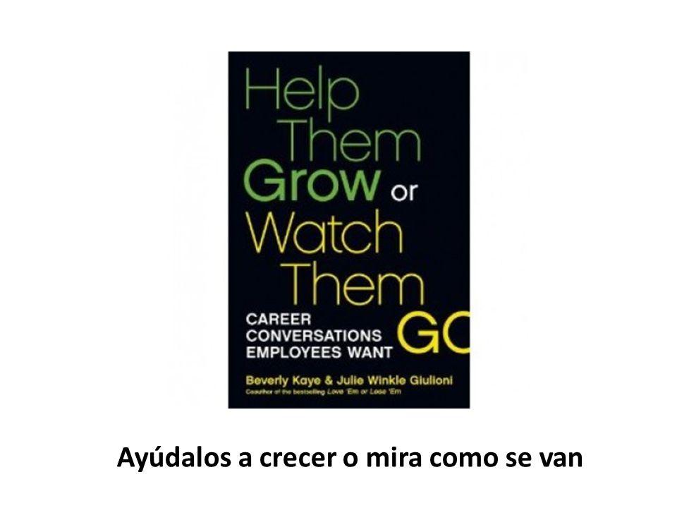 Ayúdalos a crecer o mira como se van