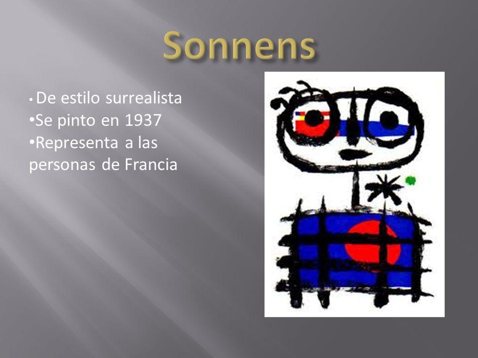 De estilo surrealista Se pinto en febrero de 1940 La pintura representa a Miro cuando vivía en una granja cuando era niño