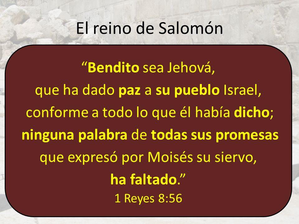 El templo de Salomón La promesa (6:13).Edén II: Dios mora con su pueblo.