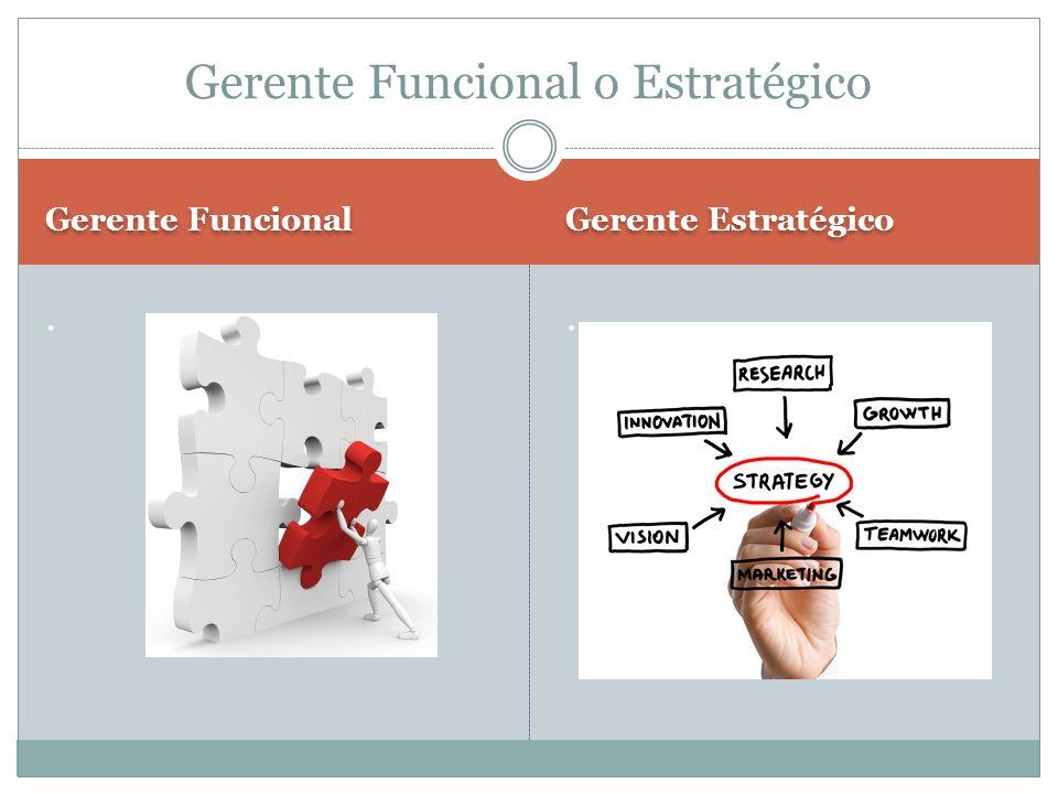 Gerente Funcional Gerente Estratégico.. Gerente Funcional o Estratégico