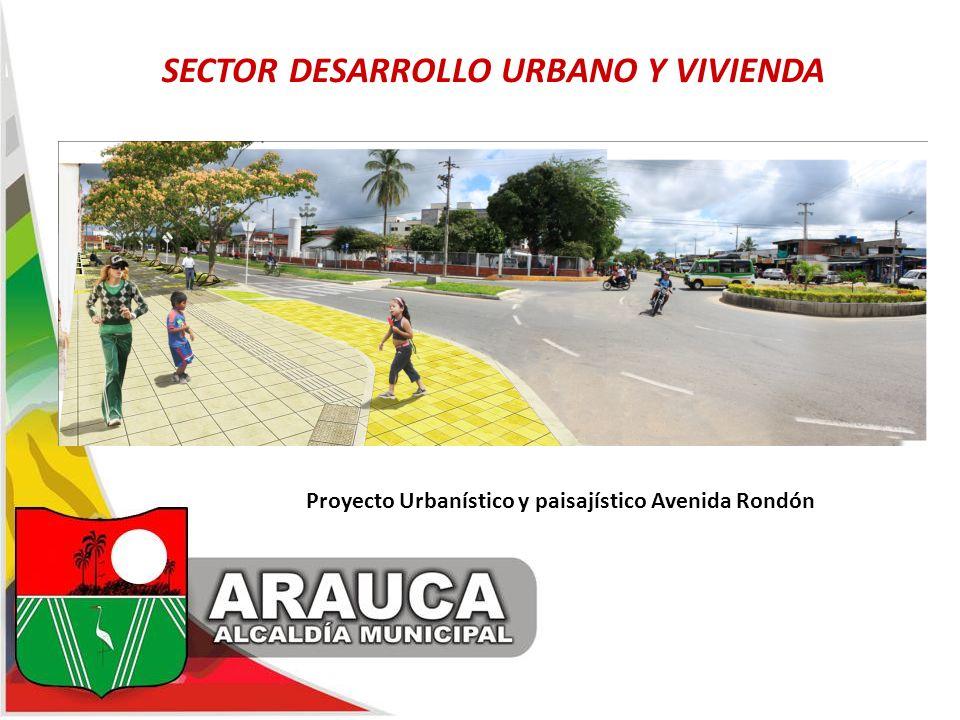 Proyecto Urbanístico y paisajístico Avenida Rondón