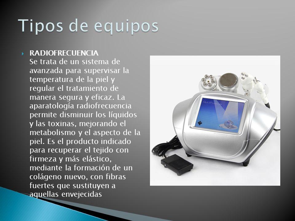 RADIOFRECUENCIA Se trata de un sistema de avanzada para supervisar la temperatura de la piel y regular el tratamiento de manera segura y eficaz. La ap
