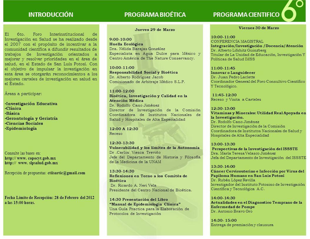 PROGRAMA BIOÉTICA Jueves 29 de Marzo 9:00-10:00 Huella Ecológica Dra. Nélida Barajas González Especialista en Agua Dulce para México y Centro América