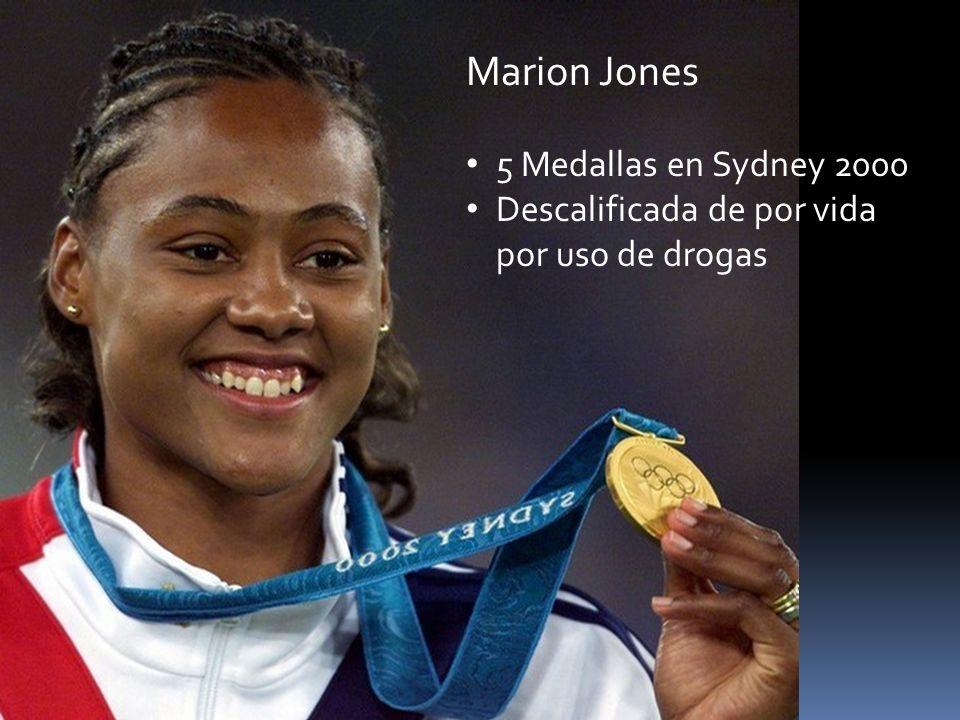 Marion Jones 5 Medallas en Sydney 2000 Descalificada de por vida por uso de drogas