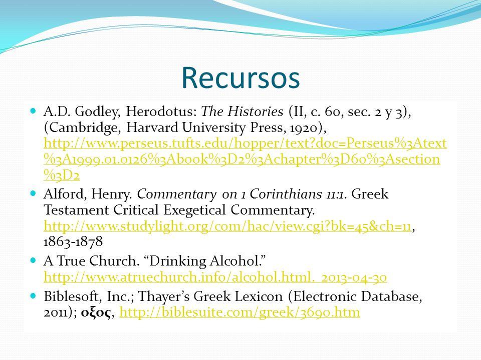 Recursos A.D. Godley, Herodotus: The Histories (II, c. 60, sec. 2 y 3), (Cambridge, Harvard University Press, 1920), http://www.perseus.tufts.edu/hopp