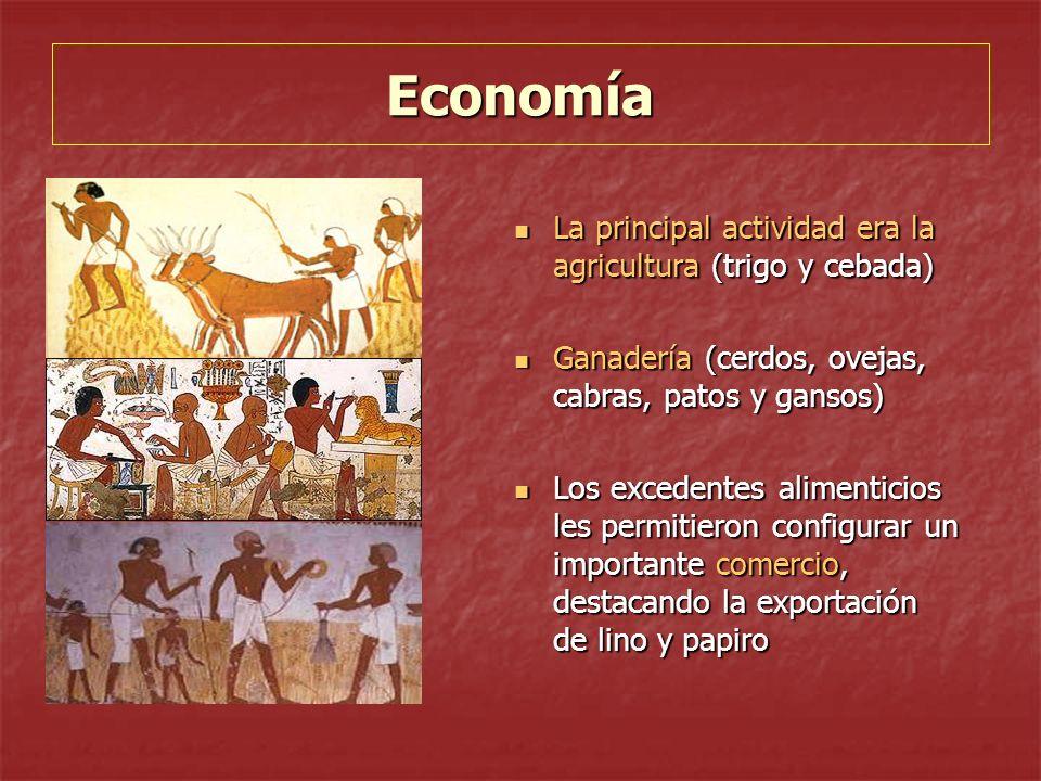 Economía La principal actividad era la agricultura (trigo y cebada) La principal actividad era la agricultura (trigo y cebada) Ganadería (cerdos, ovej