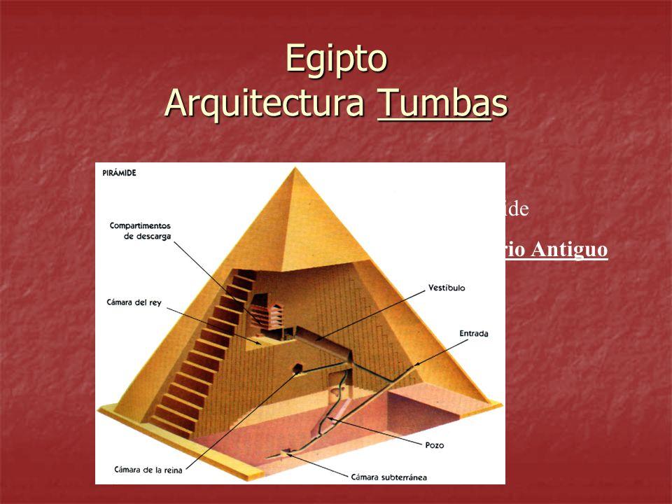 Egipto Arquitectura Tumbas Pirámide Imperio Antiguo