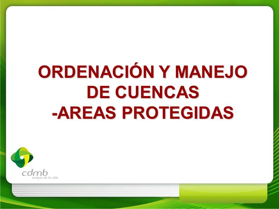 ORDENACIÓN Y MANEJO DE CUENCAS -AREAS PROTEGIDAS
