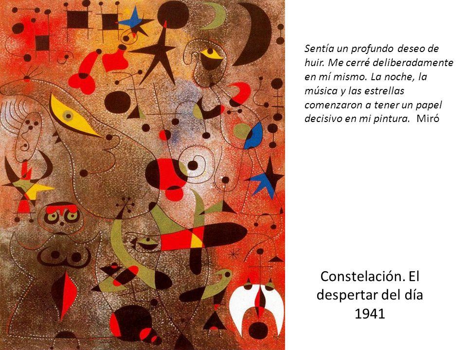 Constelación.El despertar del día 1941 Sentía un profundo deseo de huir.