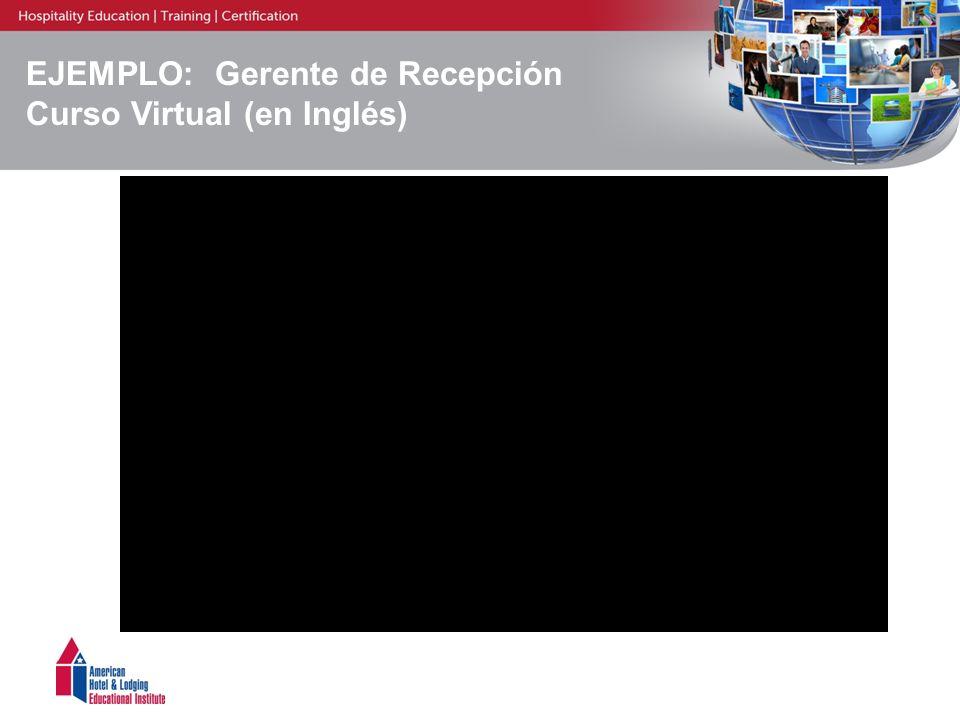 EJEMPLO: Gerente de Recepción Curso Virtual (en Inglés)