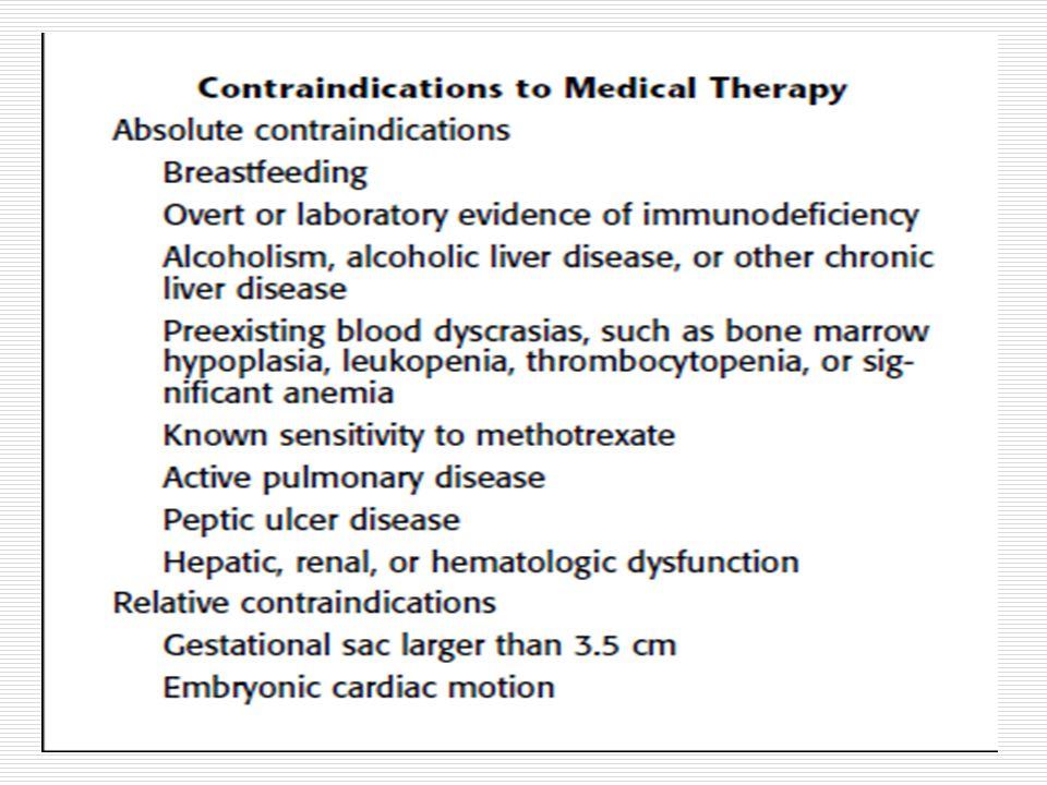 Metotrexate Régimen de una sola dosis 50 mg / m2 día 0 Medir BHCG en 4 a 7 días disminuir el 15 %.