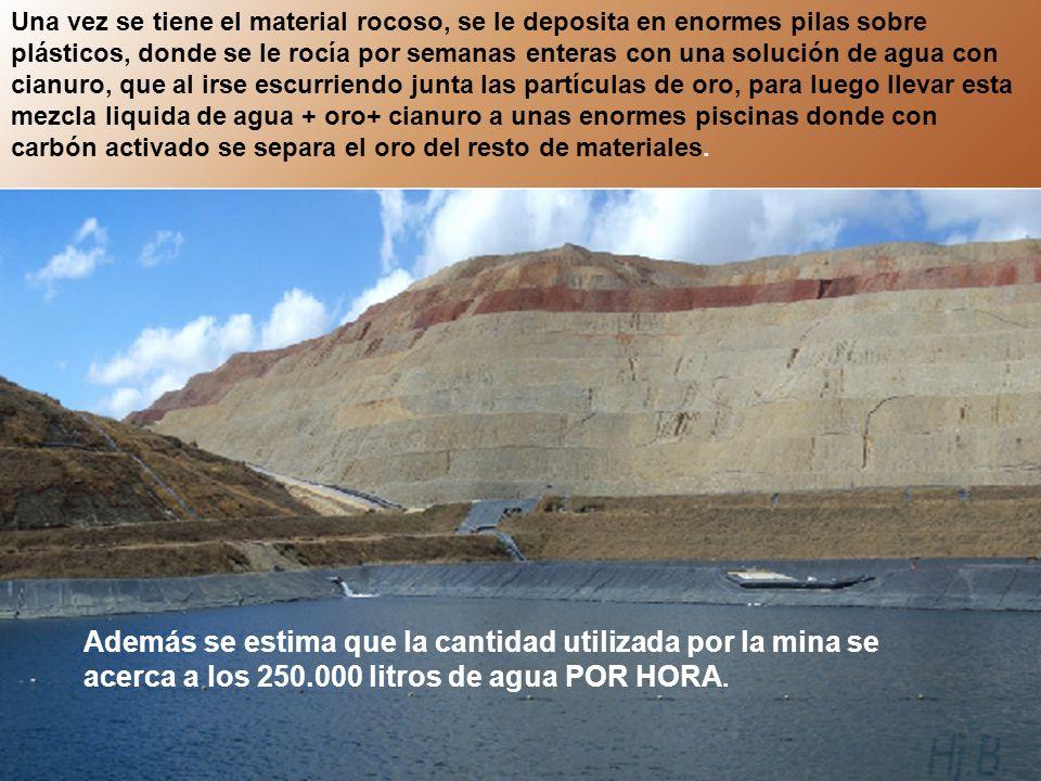 El futuro de las mas de 515 hectáreas de reserva natural, donde se planea realizar la explotación minera en Cajamarca, será muy similar al de esta fotografía tomada de la mina de oro de Yanacocha en Perú