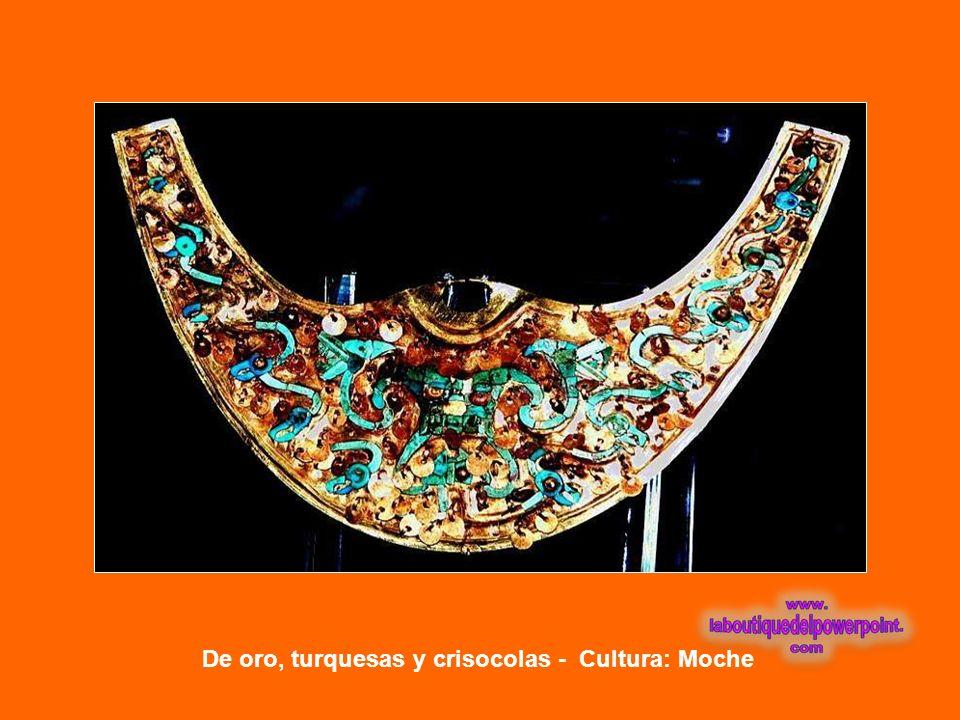 De oro, cobre y turquesas – Cultura: Moche NARIGUERAS