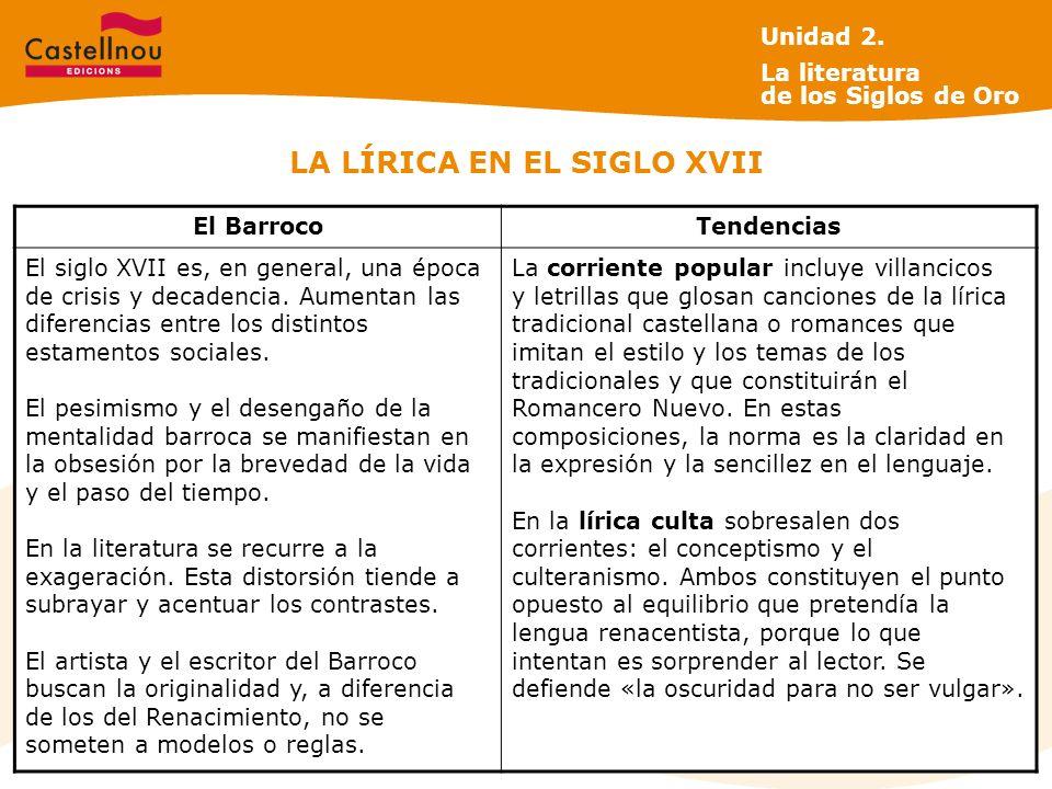 LA LÍRICA EN EL SIGLO XVII El BarrocoTendencias El siglo XVII es, en general, una época de crisis y decadencia.