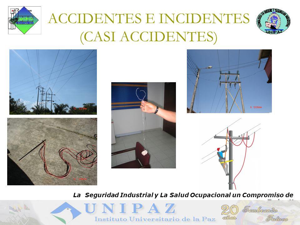 14 ACCIDENTES E INCIDENTES (CASI ACCIDENTES) La Seguridad Industrial y La Salud Ocupacional un Compromiso de Todos !!