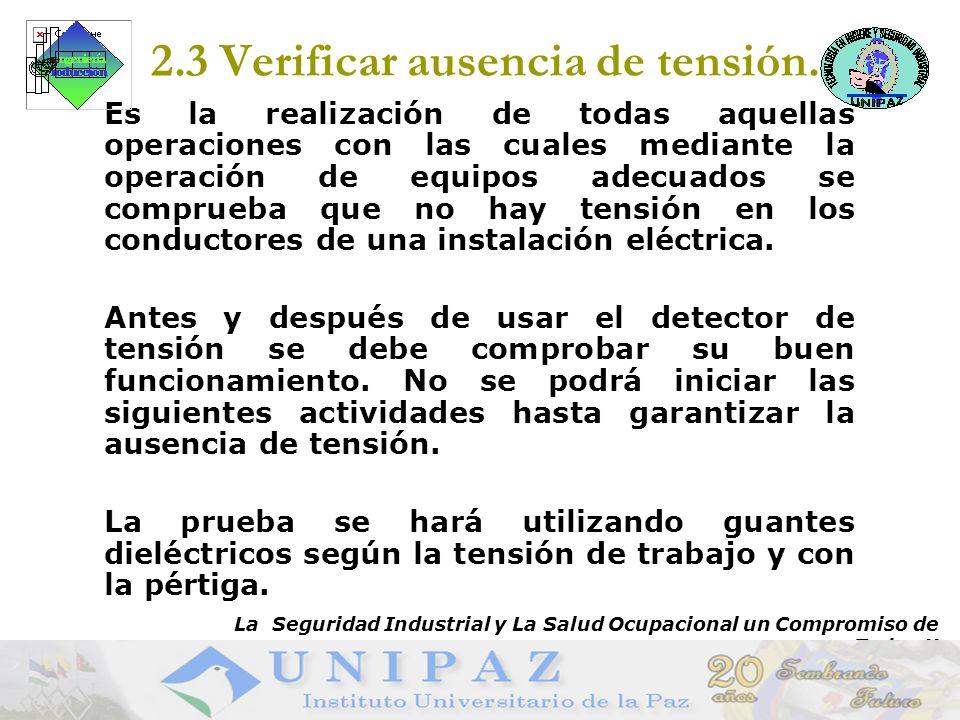 9 2.3 Verificar ausencia de tensión.