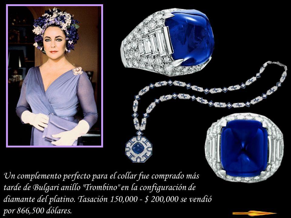 Da - Ma Sapphire - Bulgari collar de diamante, zafiro cabujón pesa 52,7 ct, del 40 aniversario del nacimiento de Richard Burton en 1972.