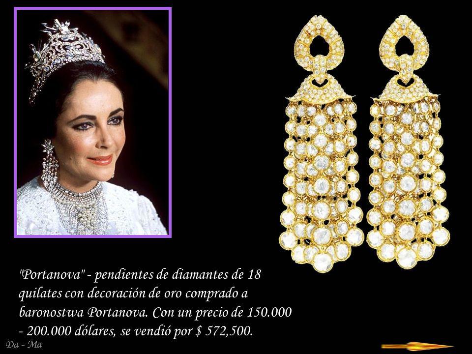 Da - Ma Clips de diamante - zafiro de la perla, de Jean Schlumberger, Tiffany & co, 1964 Precio 12.000 - $ 15.000, se vendió por $ 230,500.