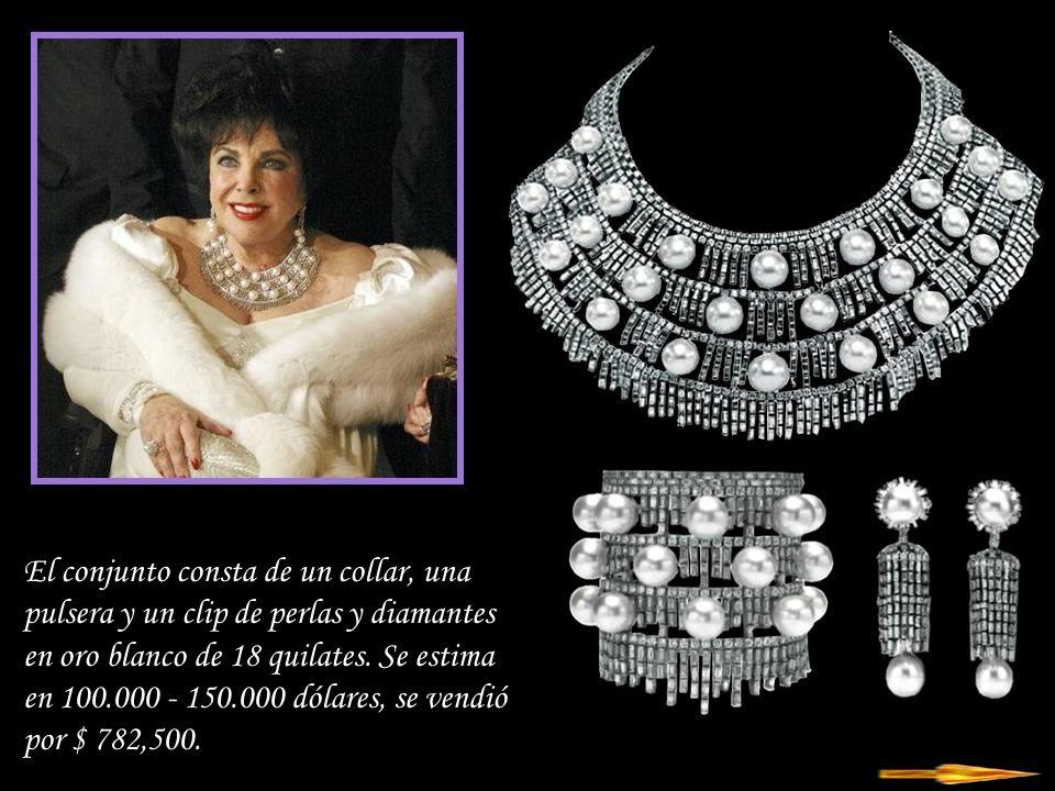 Da - Ma Collar y clips ca 1984 firmados por Boucheron - cuarzo rosa, rubíes, diamantes, perlas negras.