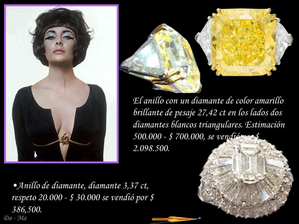 Da - Ma Broche de diamantes - colgante en un entorno de platino de la Van Cleef & Arpels comprada por Richard Burton en 1967 Estimación 200.000 - $ 300.000, se vendió por $ 1.142.500.