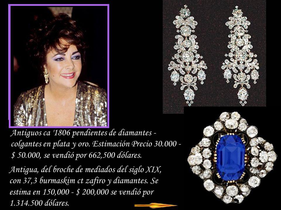 Da - Ma Antique, ca 1806 collar de diamantes y ubicado en plata y oro, que consta de 10 rosas de flores, 5 de los cuales pueden ser usados por separado grande como broches o clips.