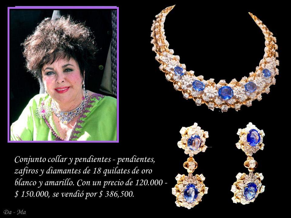 Da - Ma Antiguos ca 1806 pendientes de diamantes - colgantes en plata y oro.