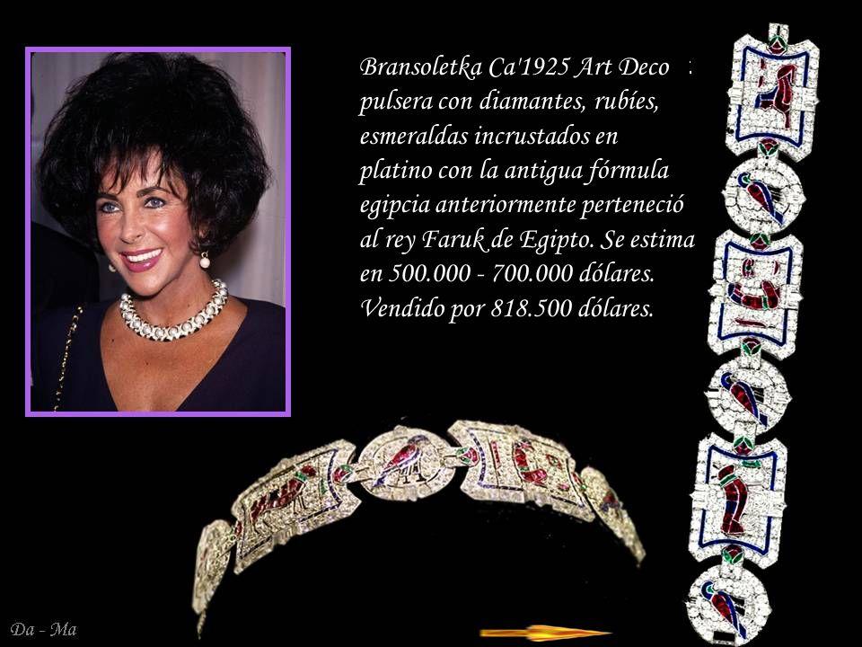 Da - Ma Pendientes - colgantes consisten en un diamante en forma de pera en 1991 de Cartier.