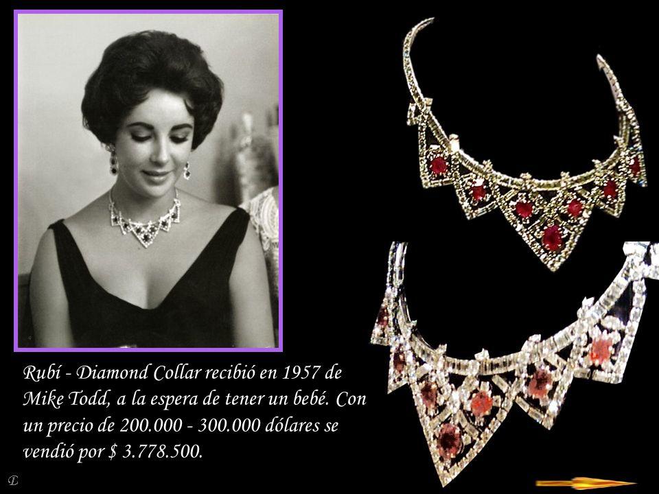 Da - Ma Collar y pendientes del oído consiste en un borde de cristal de roca tallado y oro de 18 quilates con diamantes.