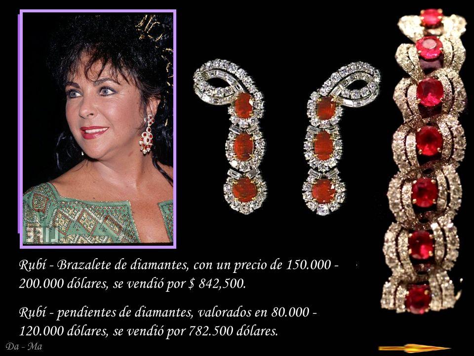 Da - Ma Rubí - Diamond Collar recibió en 1957 de Mike Todd, a la espera de tener un bebé.