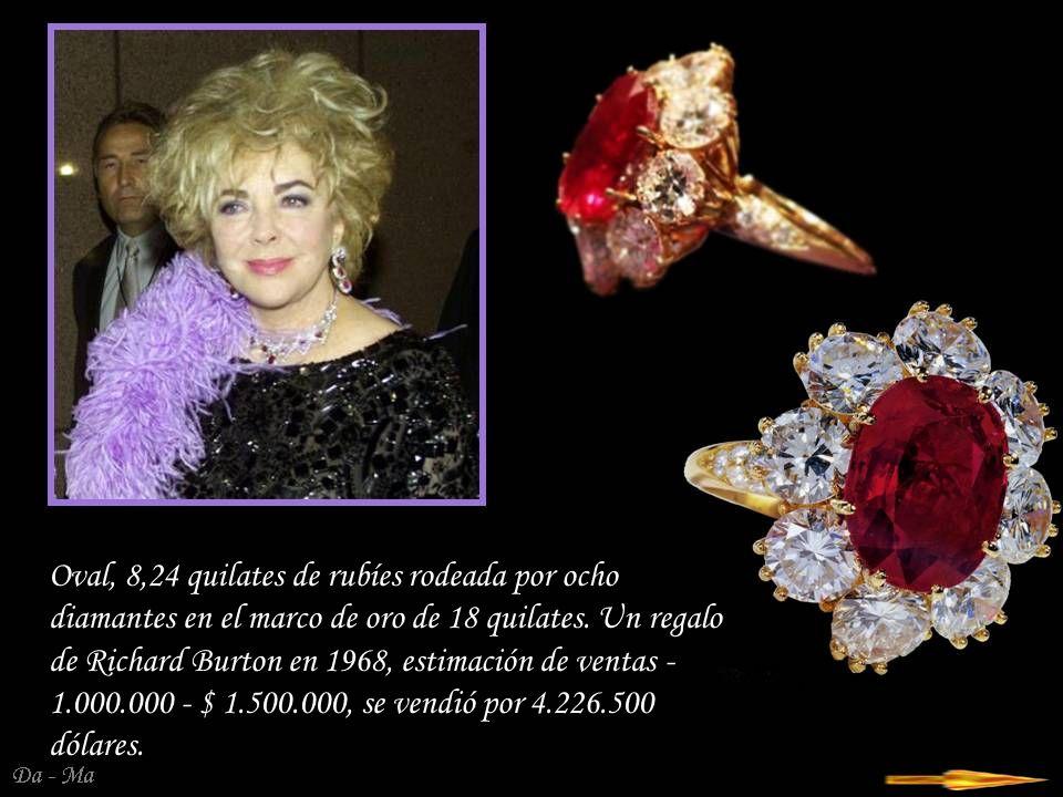 Da - Ma Rubí - Brazalete de diamantes, con un precio de 150.000 - 200.000 dólares, se vendió por $ 842,500.