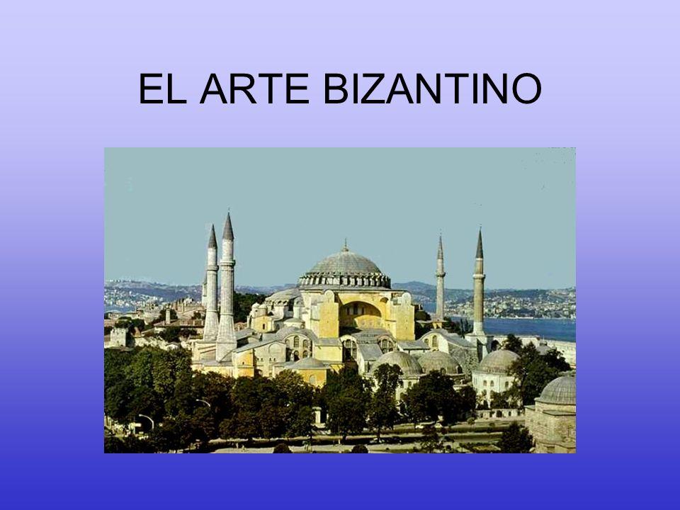 CONTINUADOR DEL ARTE PALEOCRISTIANO ORIENTAL LA RECUPERACIÓN DE LA CULTURA HELENÍSTICA (PERVIVENCIA DE LAS FORMAS CLÁSICAS) PILARES Todo ello impregnado por la RELIGIÓN CRISTIANA (variante ortodoxa) y el INFLUJO ORIENTAL (Siria, Egipto, etc.) fuertemente enraizada en el mundo helenístico EL ARTE BIZANTINO