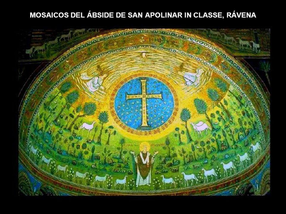 MOSAICOS DEL ÁBSIDE DE SAN APOLINAR IN CLASSE, RÁVENA