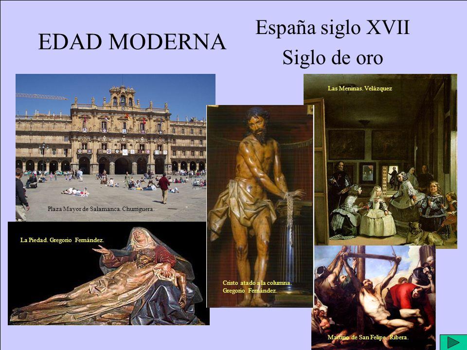 EDAD MODERNA España siglo XVII Siglo de oro Plaza Mayor de Salamanca.