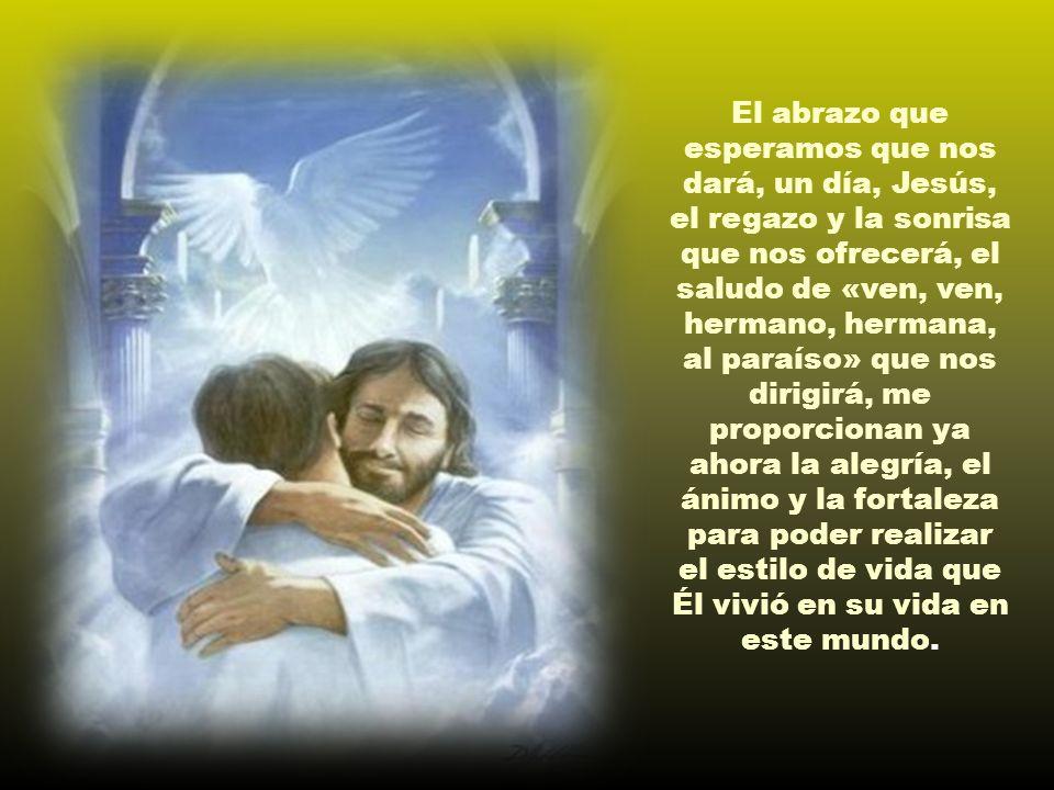 Es la auténtica esperanza: nos señala a dónde y hacia quién caminamos; nos señala el camino que recorrió en su vida terrena Aquél a quien esperamos, J