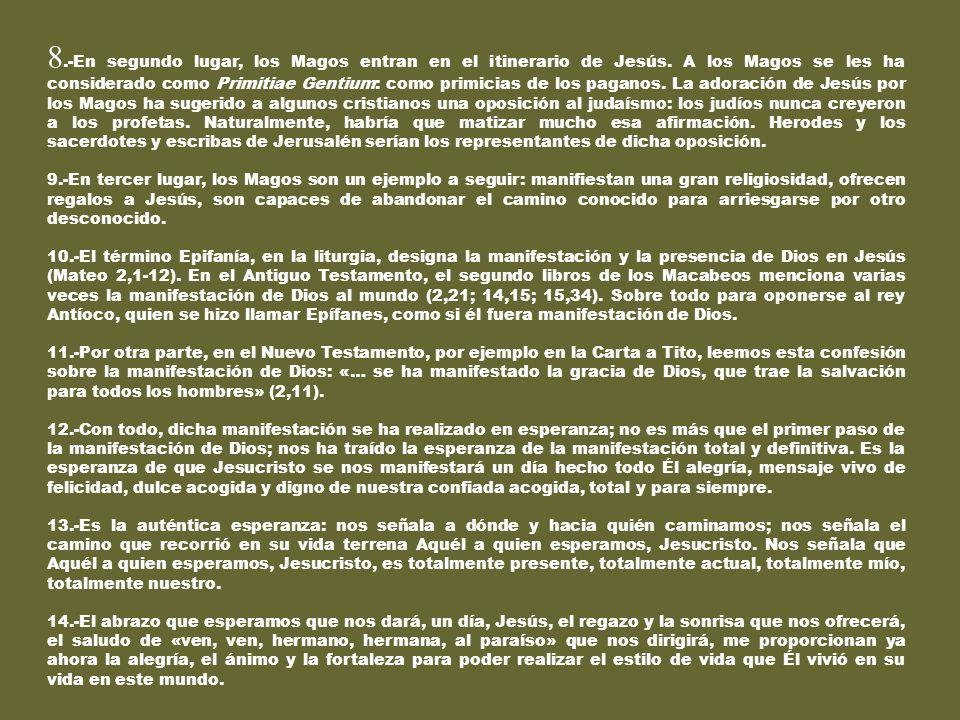 EPIFANÍA Texto: Dioni 2014-01-06 1.-Lamentablemente, en nuestra cultura cristiana, a esta fiesta del 6 de Enero se le ha aplicado un nombre falso: REY