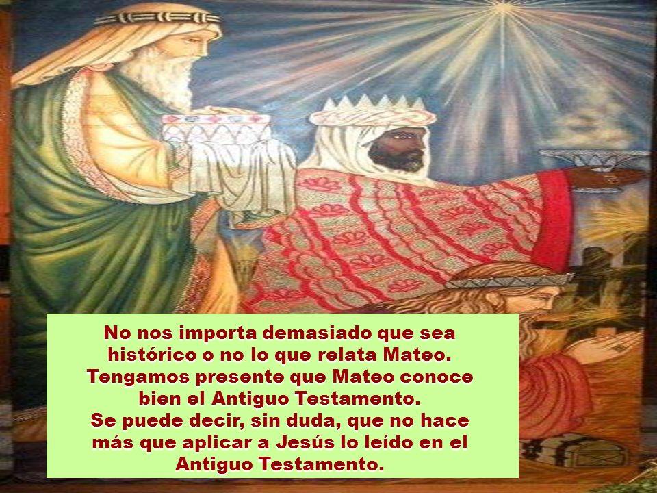 Marcos, Lucas y Juan no mencionan este relato de los llamados Magos o Reyes. Lo menciona Mateo solamente (2,1-12). En las tradiciones modernas de la B