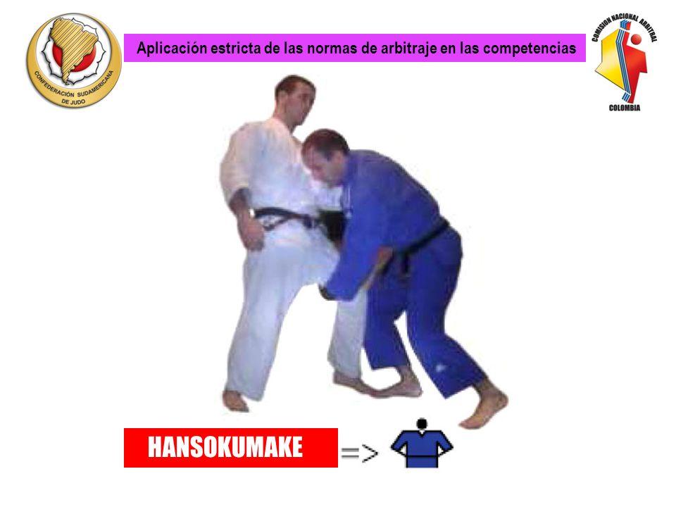 PROHIBIDO: Agarres de pierna en ataques directos y bloqueos. Todos los ataques directos con agarres o bloqueos con una o dos manos o con uno o los dos