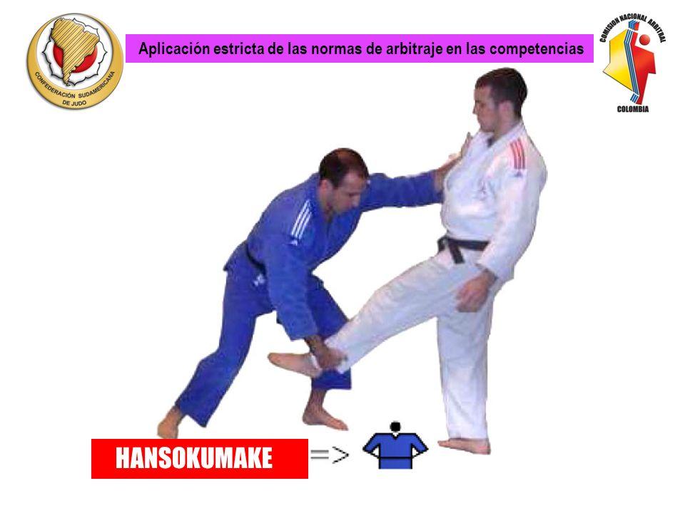Aplicación estricta de las normas de arbitraje en las competencias HANSOKUMAKE