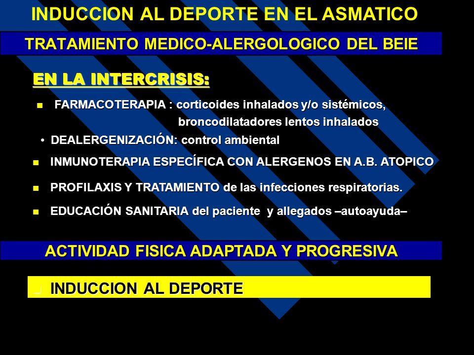 TRATAMIENTO MEDICO-ALERGOLOGICO DEL BEIE EN LA INTERCRISIS: INMUNOTERAPIA ESPECÍFICA CON ALERGENOS EN A.B. ATOPICO INMUNOTERAPIA ESPECÍFICA CON ALERGE