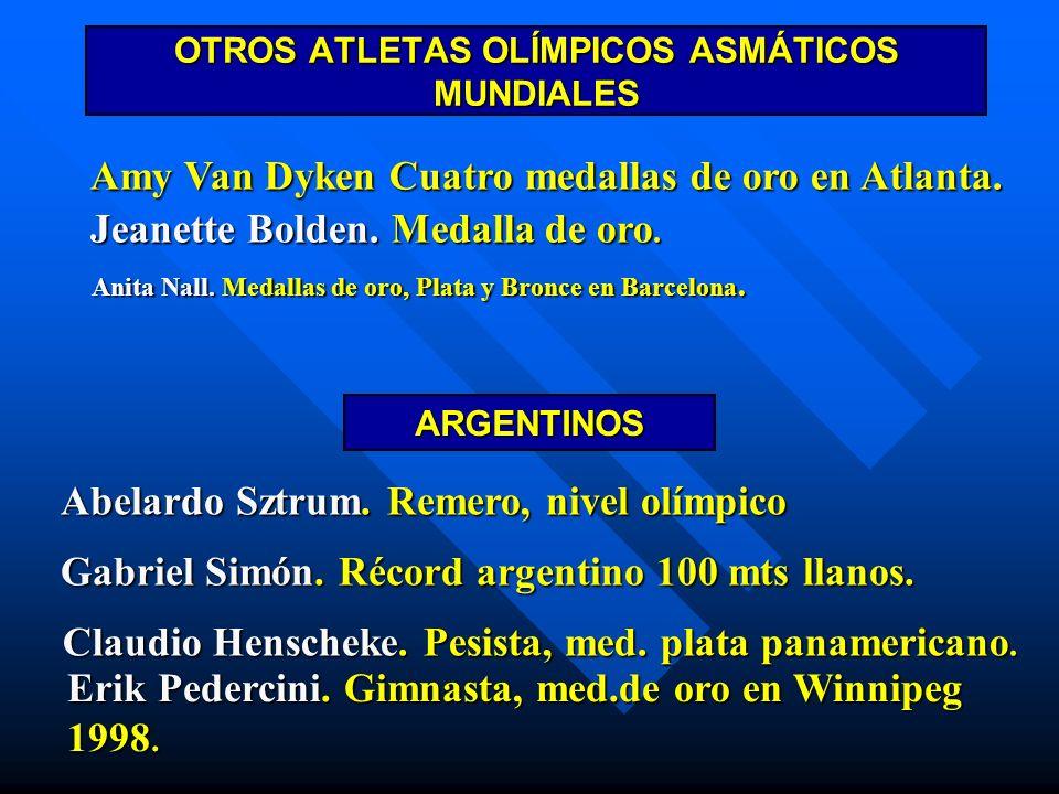 Amy Van Dyken Cuatro medallas de oro en Atlanta. Jeanette Bolden. Medalla de oro. Anita Nall. Medallas de oro, Plata y Bronce en Barcelona. OTROS ATLE