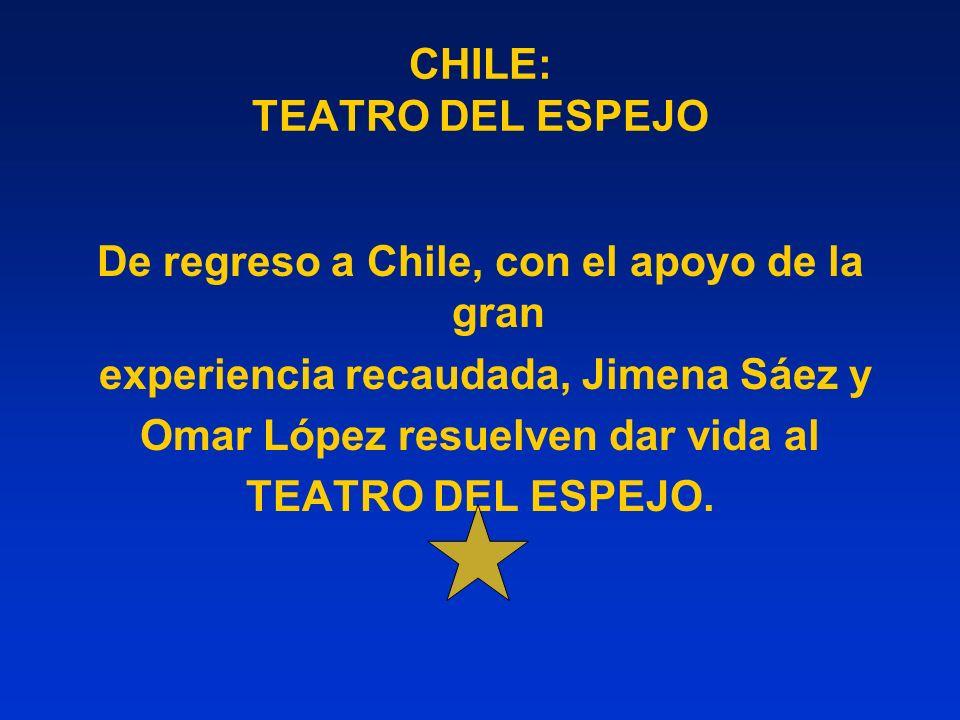 CHILE: TEATRO DEL ESPEJO De regreso a Chile, con el apoyo de la gran experiencia recaudada, Jimena Sáez y Omar López resuelven dar vida al TEATRO DEL ESPEJO.