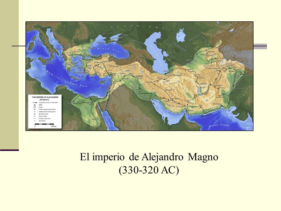 El imperio de Alejandro Magno (330-320 AC)